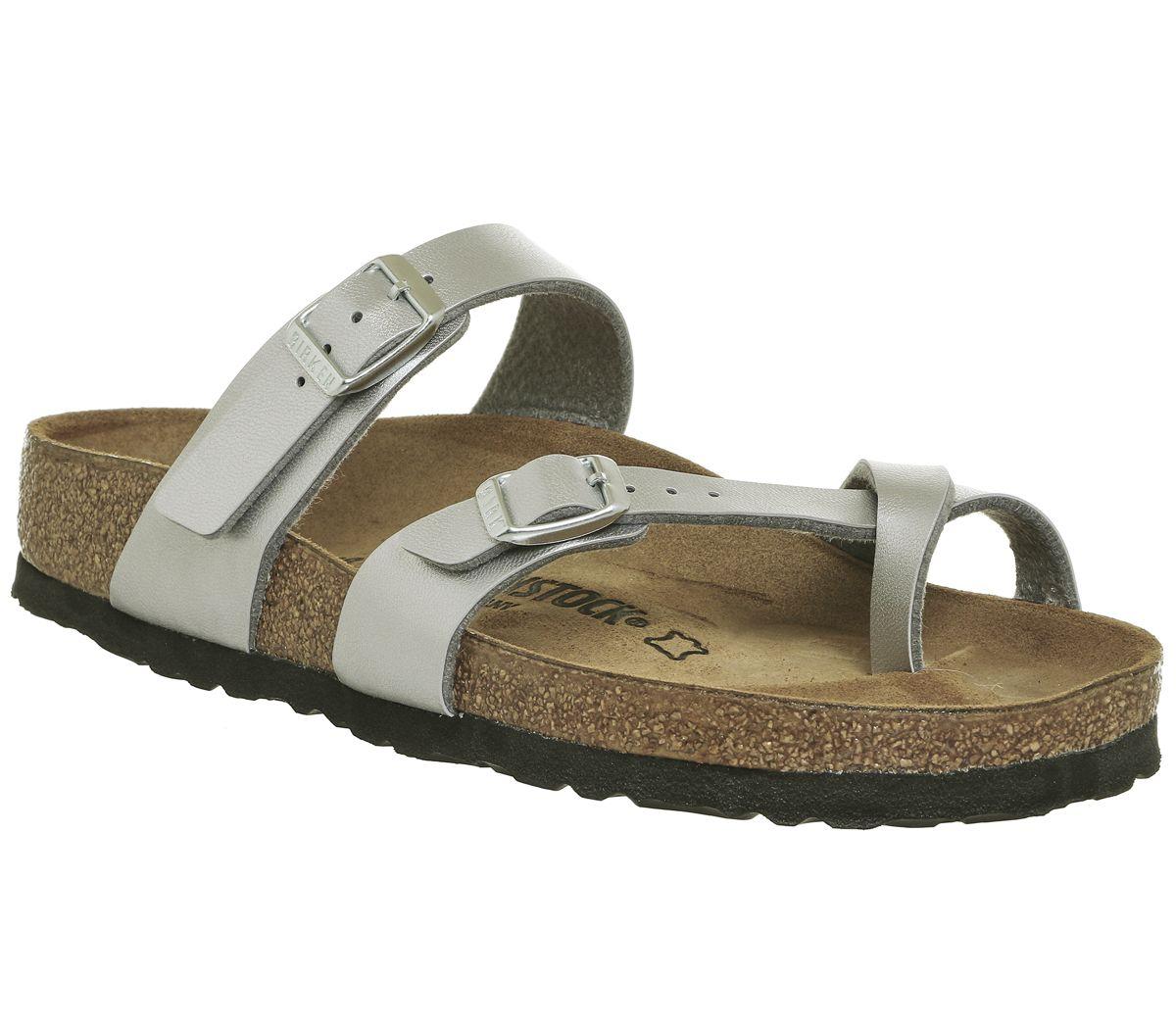 38be8d3fa16 Birkenstock Mayari Cross Strap Sandals Silver - Sandals