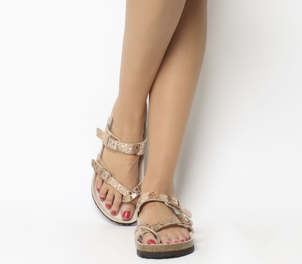 d401ce3fa5f0 Birkenstock Mayari Cross Strap Sandals Metallic Stones Copper - Sandals