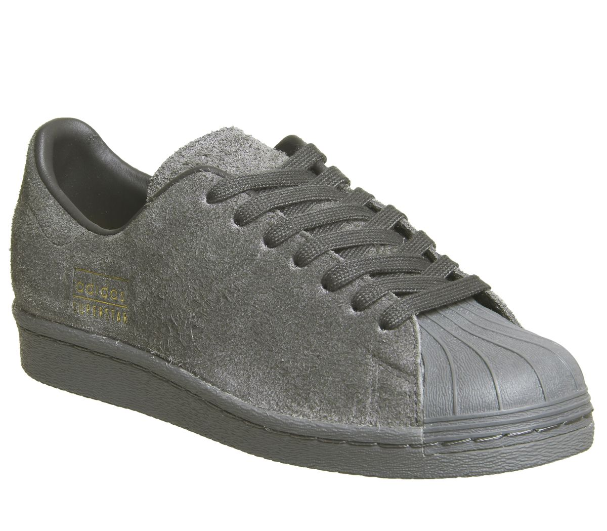 0140311cc115 adidas Superstar 80 s Clean Utility Black - Hers trainers