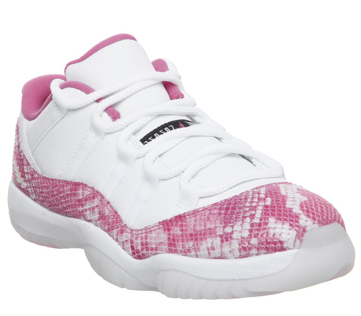 the best attitude 976eb b5892 Jordan Air Jordan 11 Low Trainers White Black Rust Pink ...