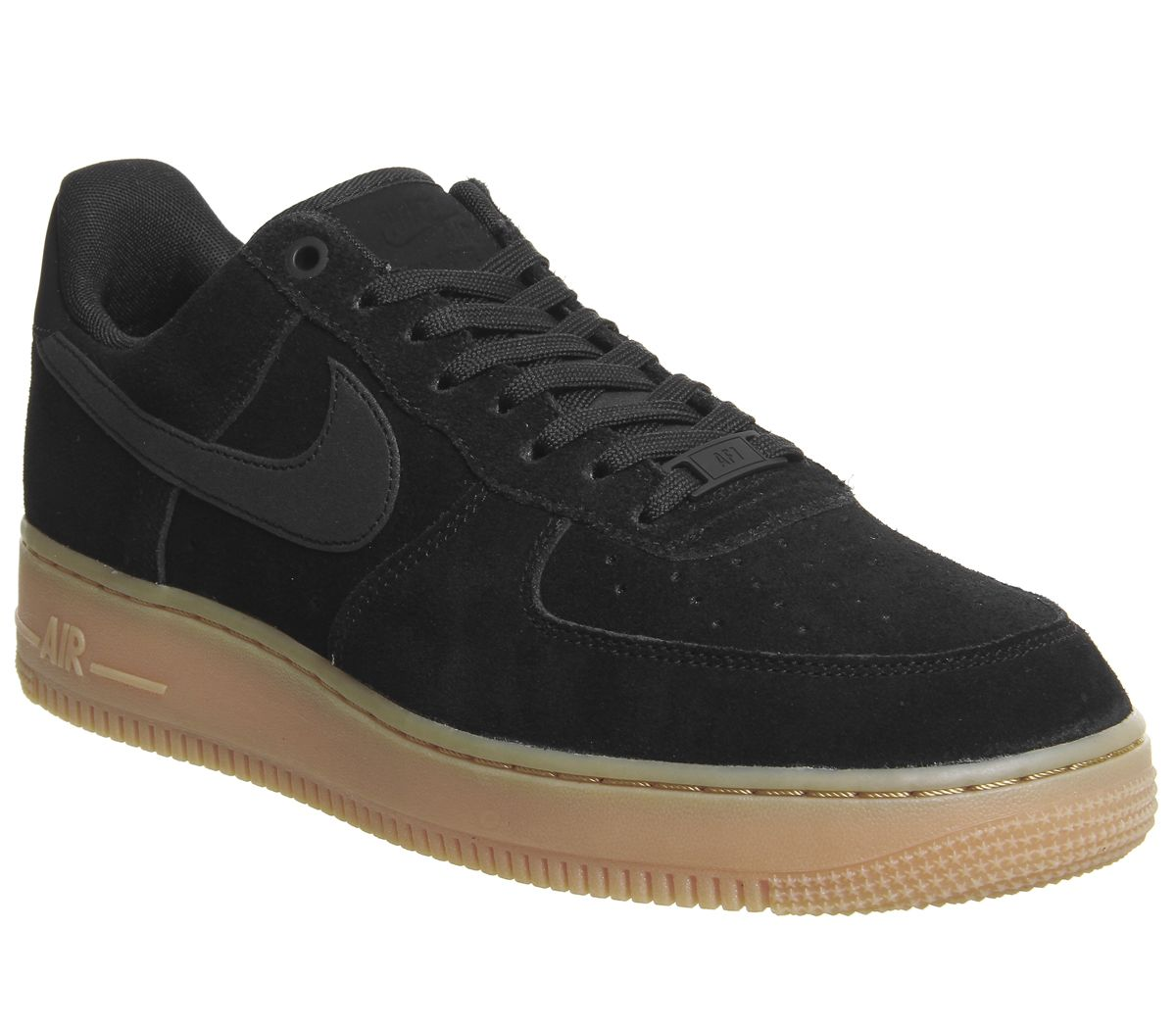 outlet store da974 f6930 Nike Nike Air Force One Trainers Black Gum - His trainers