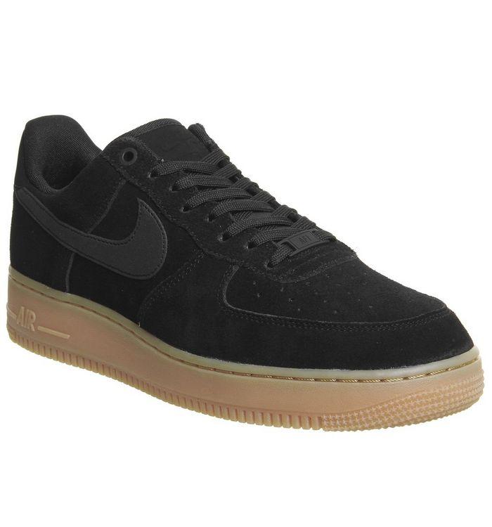 premium selection f5b9c b5701 ... Nike, Nike Air Force One Trainers, Black Gum ...