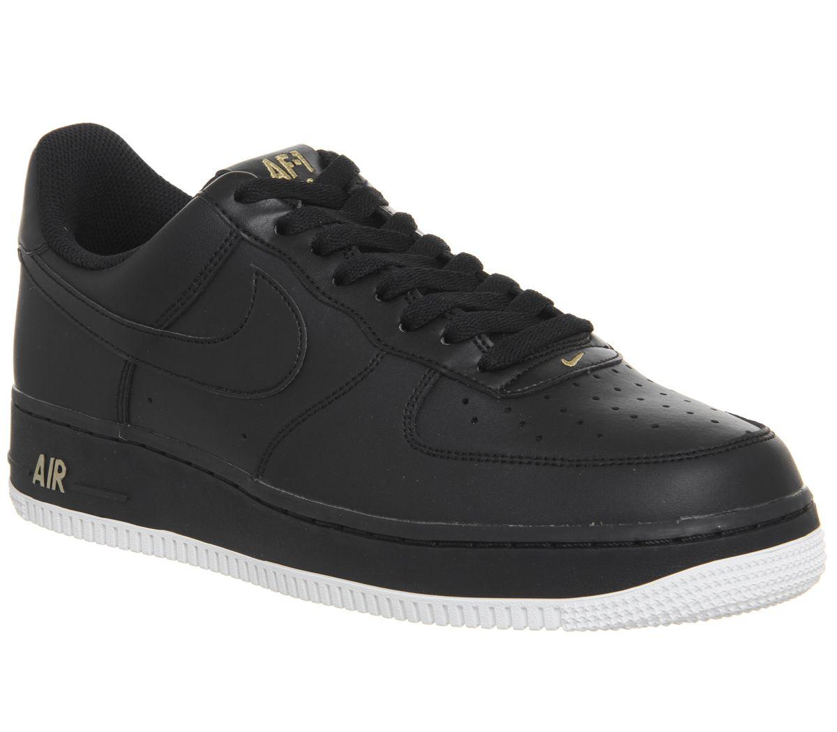 ekskluzywne buty taniej 50% zniżki Nike Nike Air Force One (m) 82 Black - His trainers