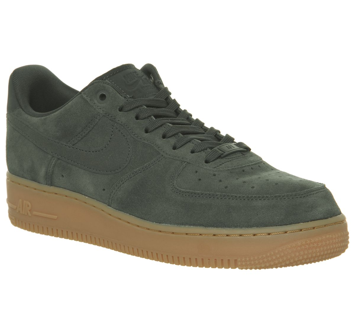 finest selection 984f2 24abf Nike Nike Air Force One Trainers Outdoor Green Suede Gum - His trainers