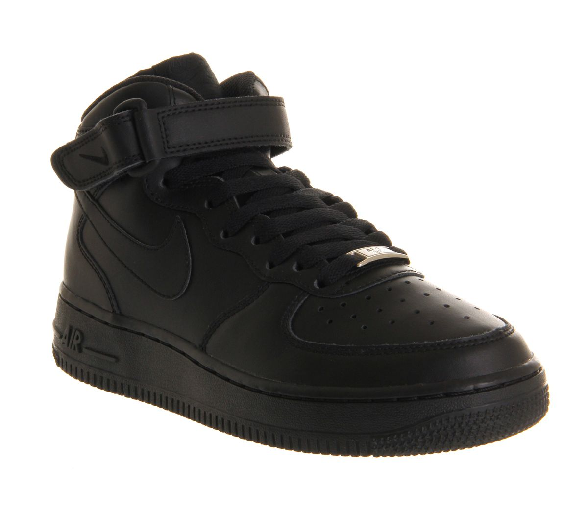 free shipping 1b54d bcebe Nike Air Force 1 Mid Black - Kids Trainers