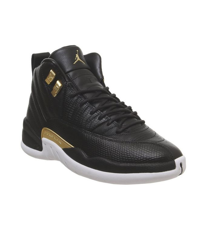 wholesale dealer e0e33 8ca28 Air Jordan 12 Retro  Jordan, Air Jordan 12 Retro, Black Metallic Gold White  ...