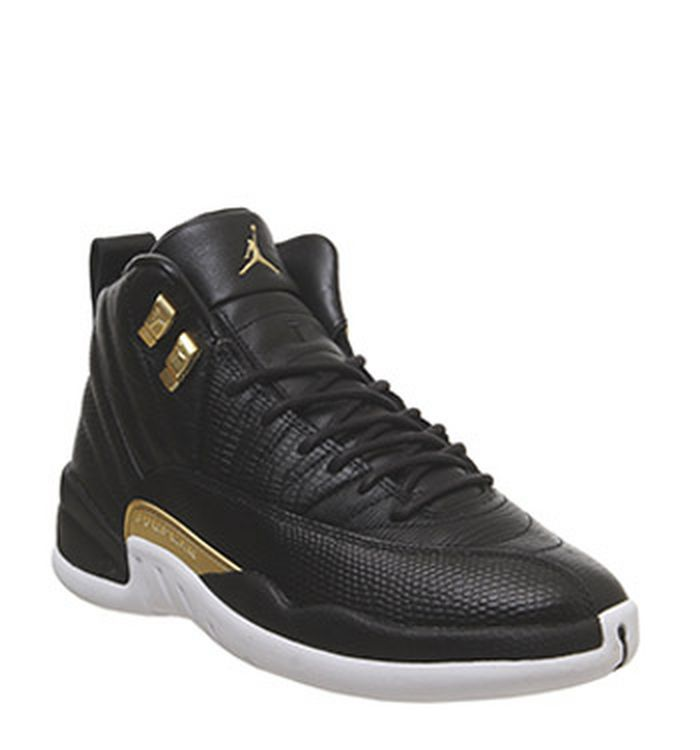 huge discount bcdaf ae048 Launching 12-04-2019. Jordan Air Jordan 12 Retro Black Metallic Gold White