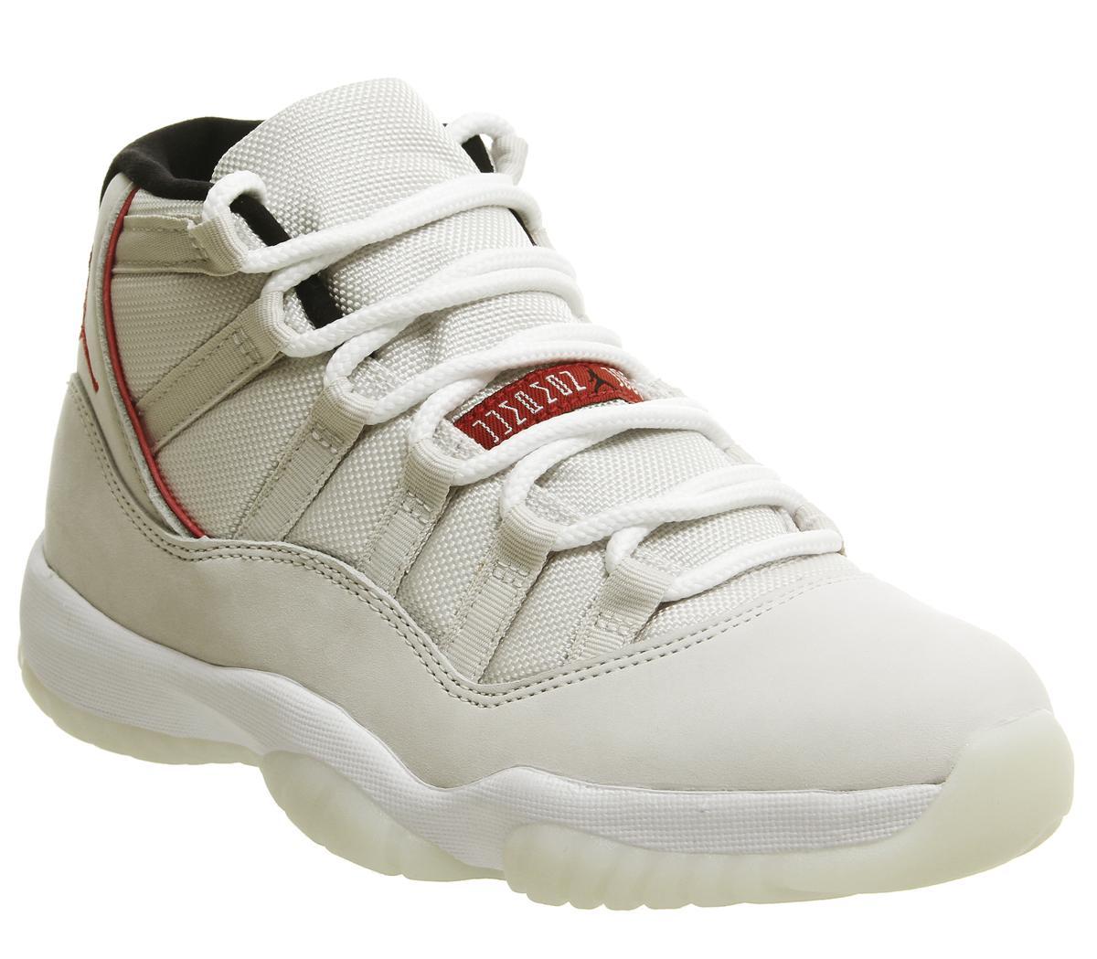 bloquear Desilusión Deflector  Jordan Jordan 11 Retro Trainers Platinum Tint University Red Sail - His  trainers