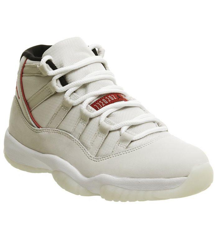 fd623f60ee00 Jordan Jordan 11 Retro Trainers Platinum Tint University Red Sail ...