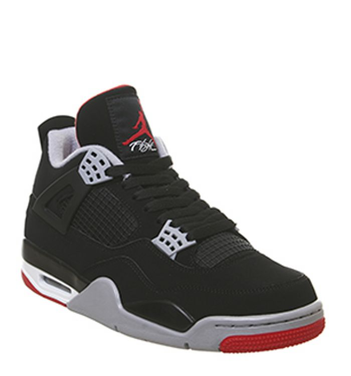 0324a185e9ad Launching 04-05-2019 · Jordan Jordan 4 Retro Trainers Black Fire Red Cement  Grey Summit White