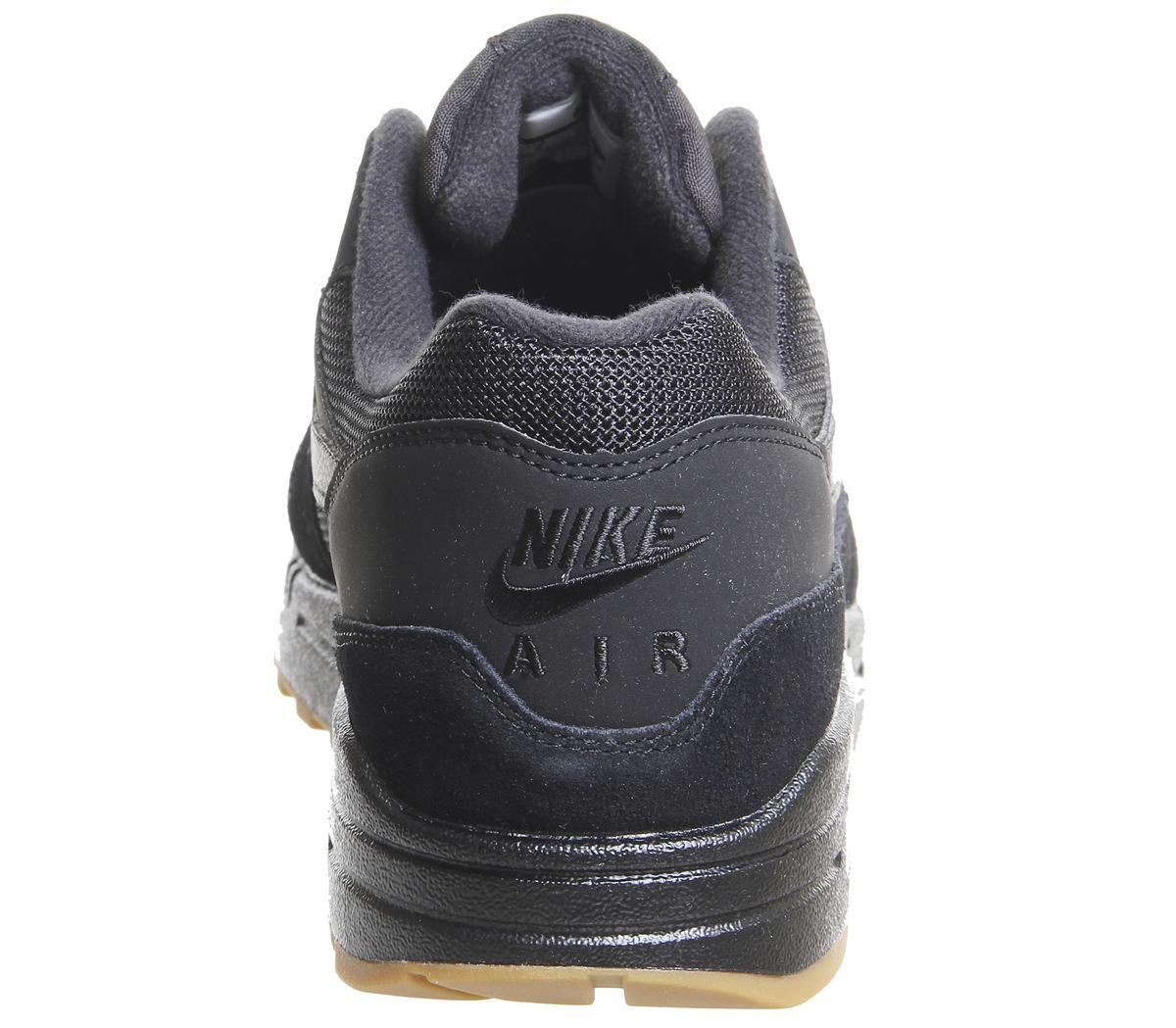air max 1 trainers black black gum medium brown