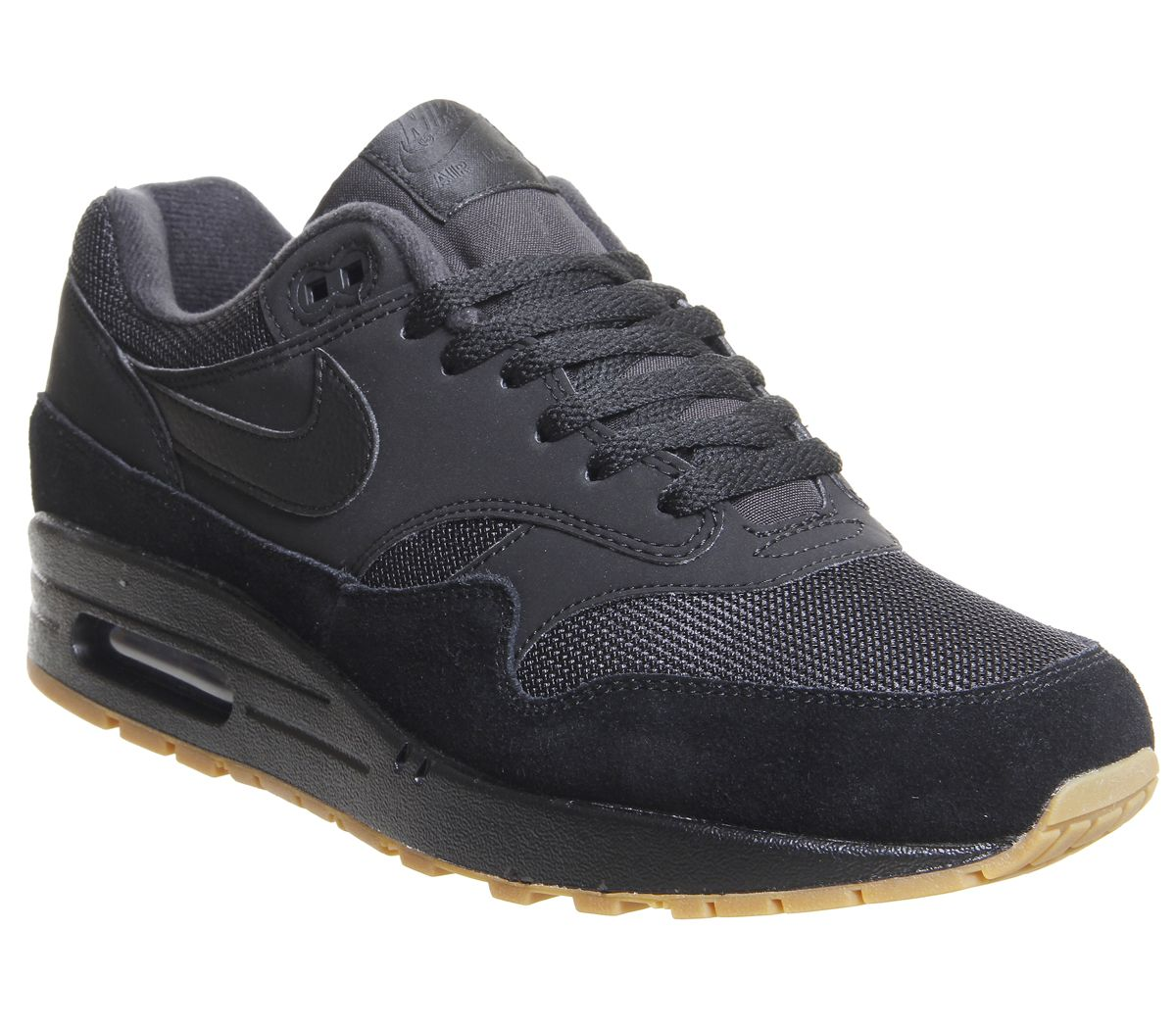0abe8e1166 Nike Air Max 1 Trainers Black Black Gum Medium Brown - His trainers