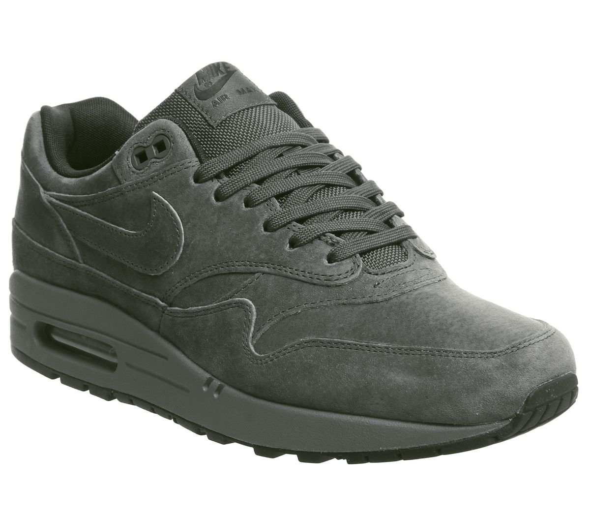 sports shoes 8f6f2 0a46f Nike Air Max 1 Trainers Anthracite Black Dark Grey - His trainers