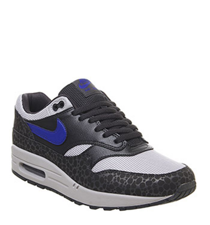 size 40 493ca 27f19 11-01-2019 · Nike Air Max 1 Trainers Castor Off Noir Hyper Blue Atmosphere  Grey
