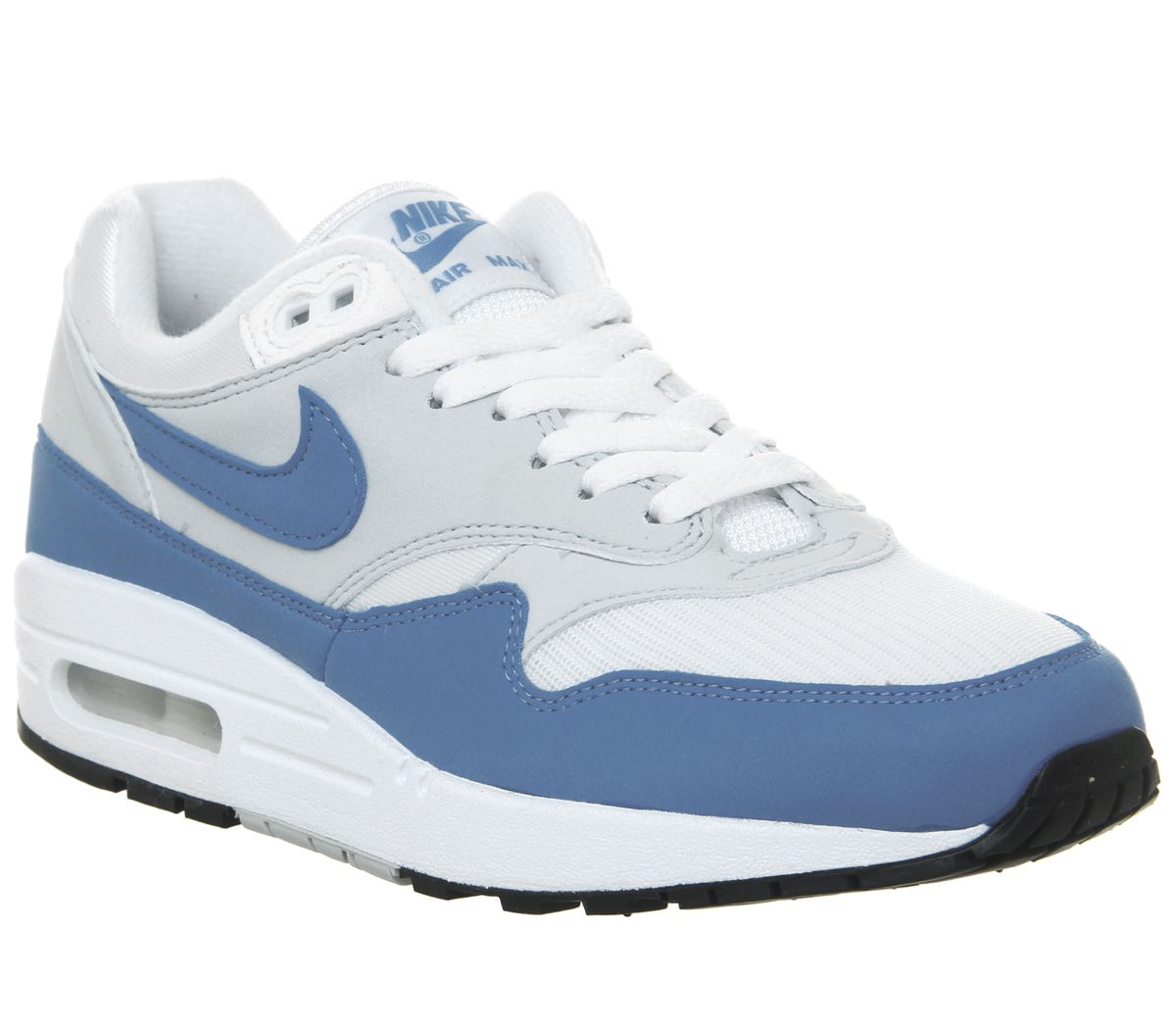 27b5067eda Nike Air Max 1 Trainers White University Blue - Hers trainers