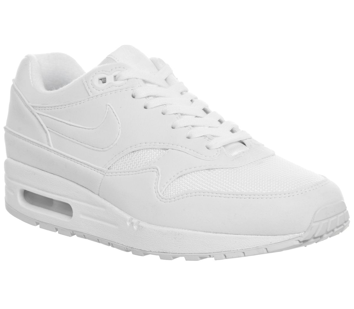 3d7c7d9fe5eae Nike Air Max 1 Trainers White White Pure Platinum F - Hers trainers