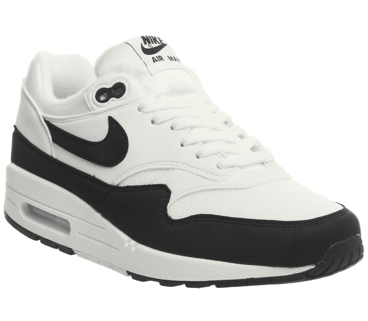 a5a75dcbc8d74 Nike Air Max 1 Trainers White Black F - Hers trainers