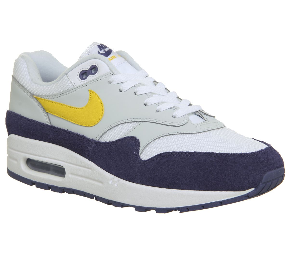 08a2c19f8c012 Nike Air Max 1 Trainers White Tour Yellow Blue Special - His trainers