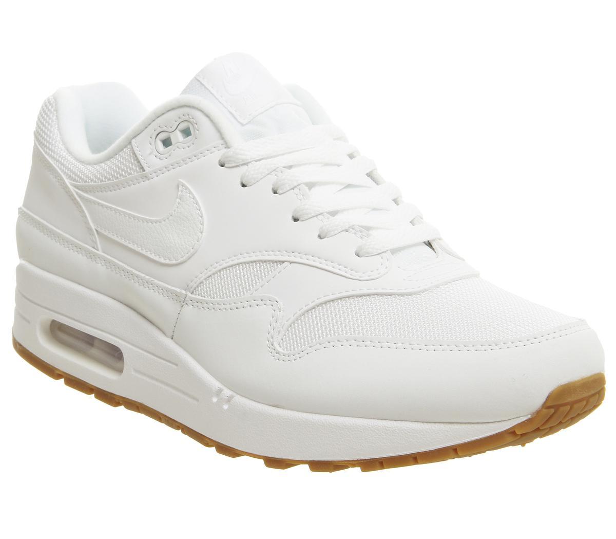 nike air max 1 white and gum