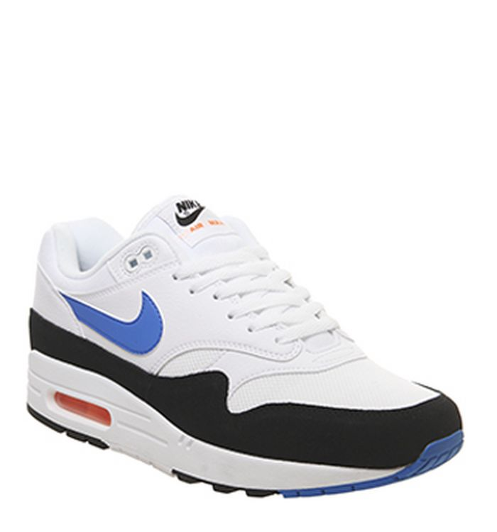 newest d1bae 00ba2 23-04-2019. Nike Air Max 1 Trainers White Photo Blue Total Orange Black
