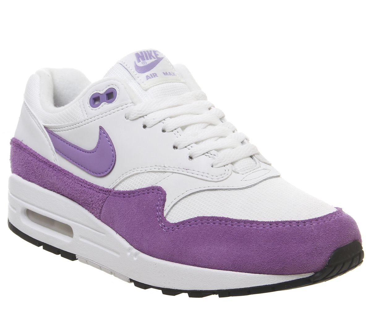 buy popular 9fa9b 04a67 Nike Air Max 1 Trainers Summit White Atomic Violet Black - Hers trainers