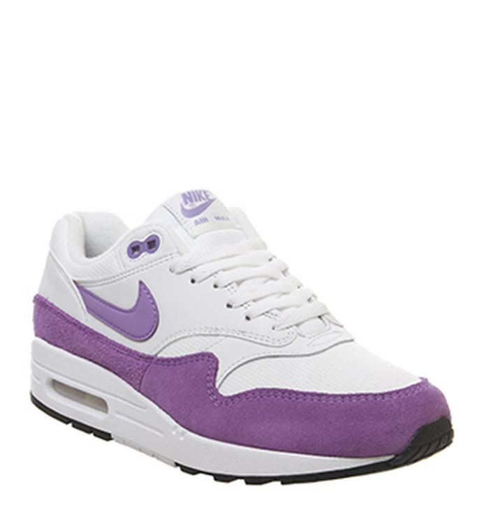 new styles e759f 3e2eb 03-04-2019 · Nike Air Max 1 Trainers Summit White Atomic Violet Black.  £100.00. Quickbuy