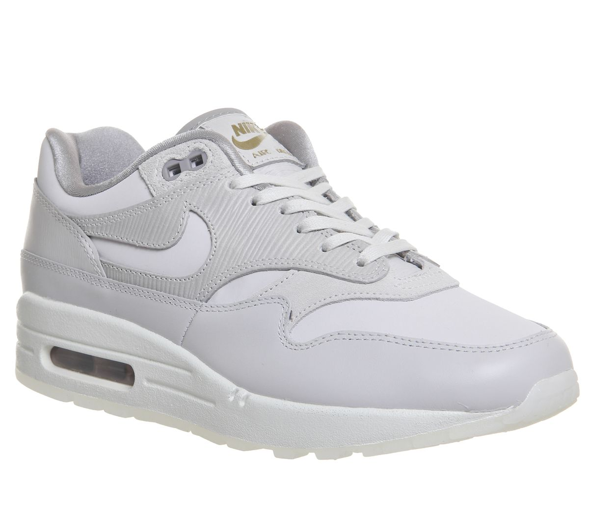 newest d7d8c 03863 Nike Air Max 1 Trainers Vast Grey Atmosphere Grey - Hers trainers