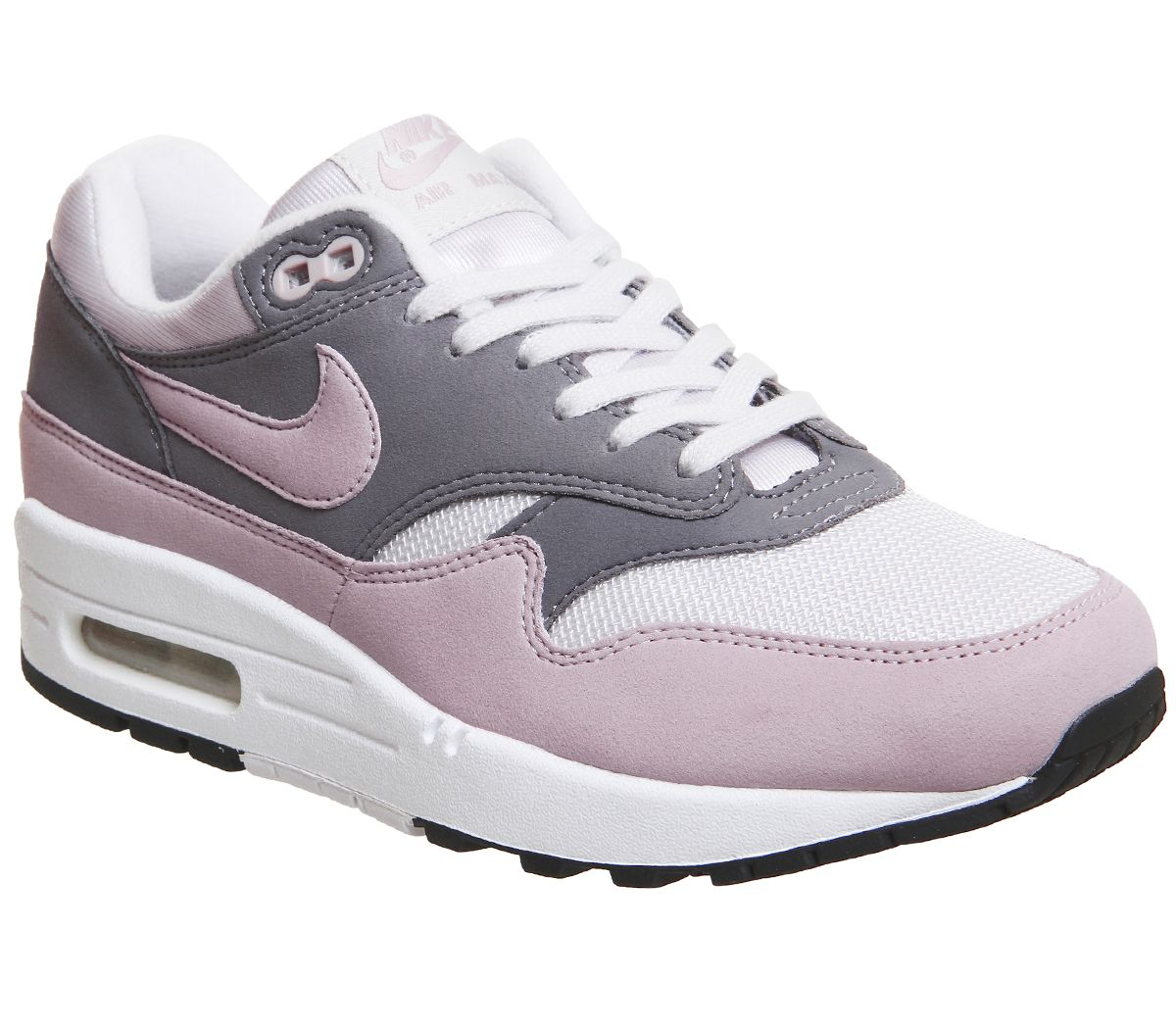 9801f96774 Nike Air Max 1 Trainers Vast Grey Particle Pink - Hers trainers