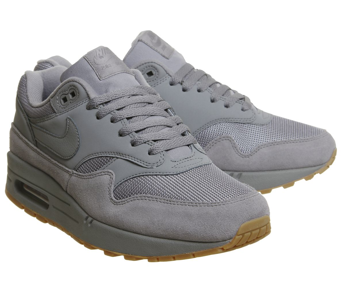 500eeade5b Nike Air Max 1 Trainers Cool Grey Cool Grey Gum - His trainers