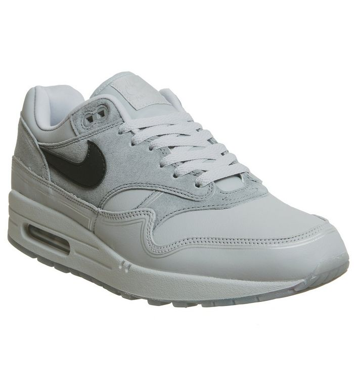 5492e1489d Air Max 1 Trainers; Nike, Air Max 1 Trainers, Wolf Grey Black Cool Grey ...