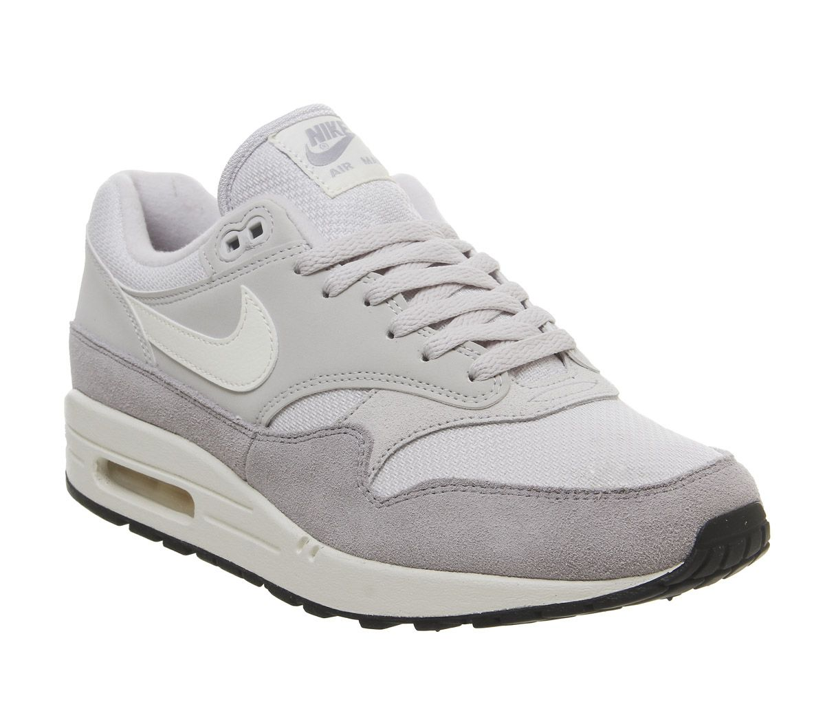purchase cheap 93e22 1849c Nike Air Max 1 Trainers Vast Grey Sail Wolf Grey - His trainers