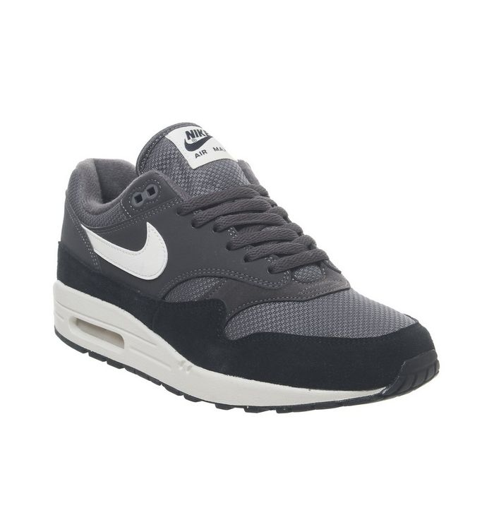 best service 1b4ca 37ef5 Air Max 1 Trainers  Nike, Air Max 1 Trainers, Thunder Grey Sail Black ...