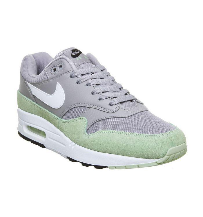 f54ff45d6180 Nike Air Max 1 Trainers Atmosphere Grey White Fresh Mint Black - His ...