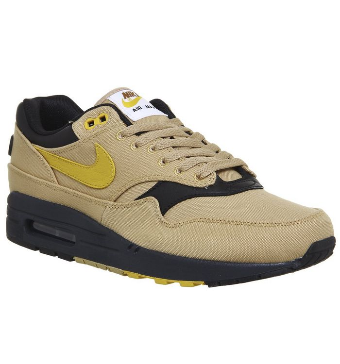 8099d156552e0 Nike Air Max 1 Trainers Gold Yellow Black - His trainers