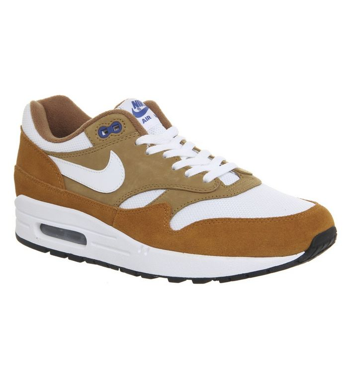 premium selection e2cff e4dc4 Air Max 1 Trainers  Nike, Air Max 1 Trainers, Dark Curry True White Spirit  Black Qs ...