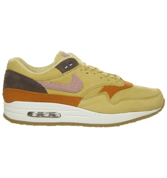d48a9c975a Nike Air Max 1 Wheat Gold Pink Crepe Sole - Unisex Sports
