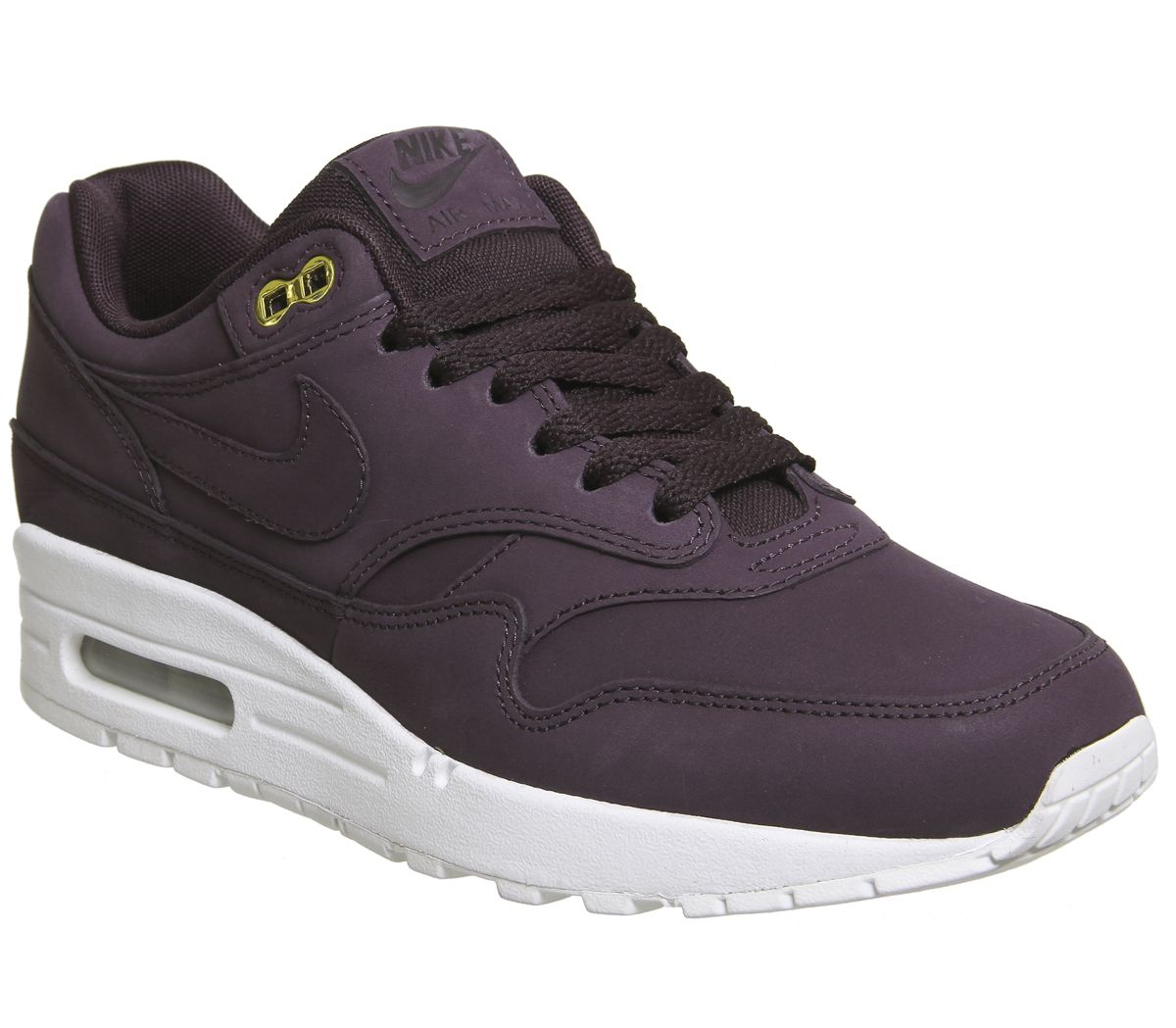 huge discount 735ef 460ef Nike Air Max 1 Trainers Port Wine White - Hers trainers