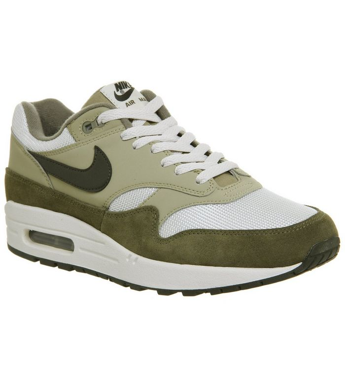 39b532e33f89 Nike Air Max 1 Trainers Medium Olive Sequoia Neutral Olive - His ...