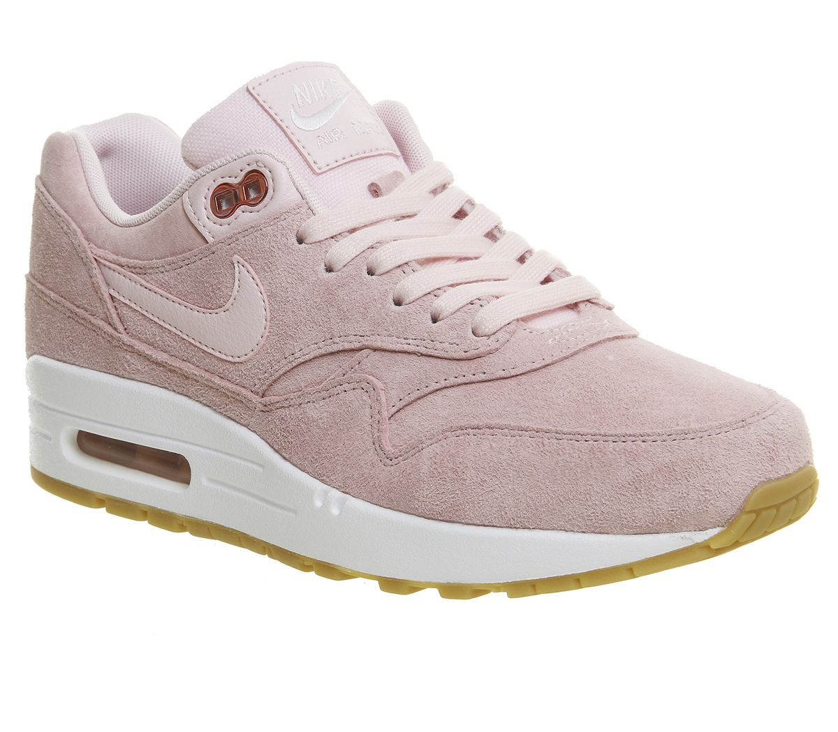 9d9a068e07 Nike Air Max 1 Trainers Prism Pink White Sheen - Hers trainers