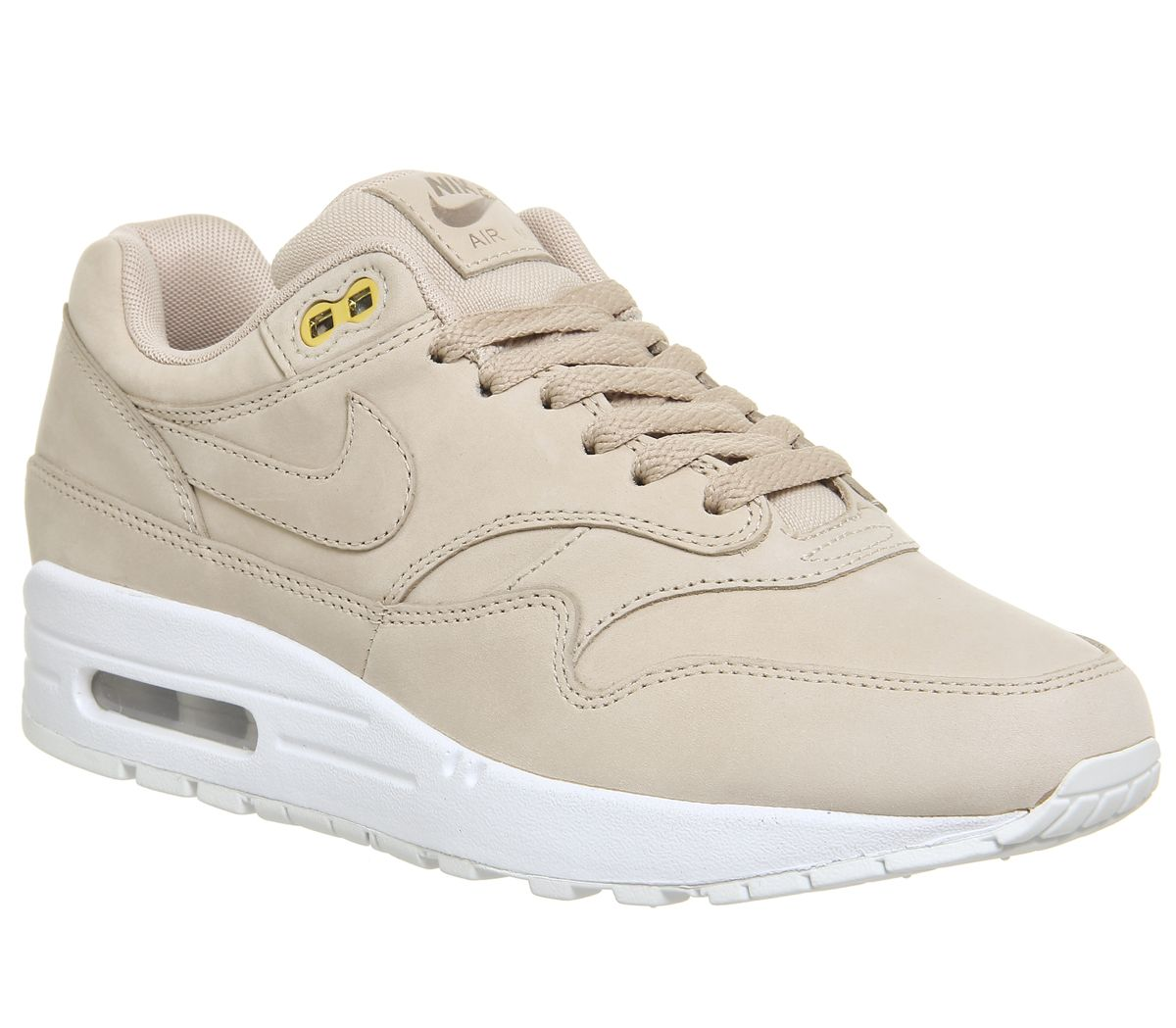 166a180a1c Nike Air Max 1 Trainers Bio Beige White - Hers trainers