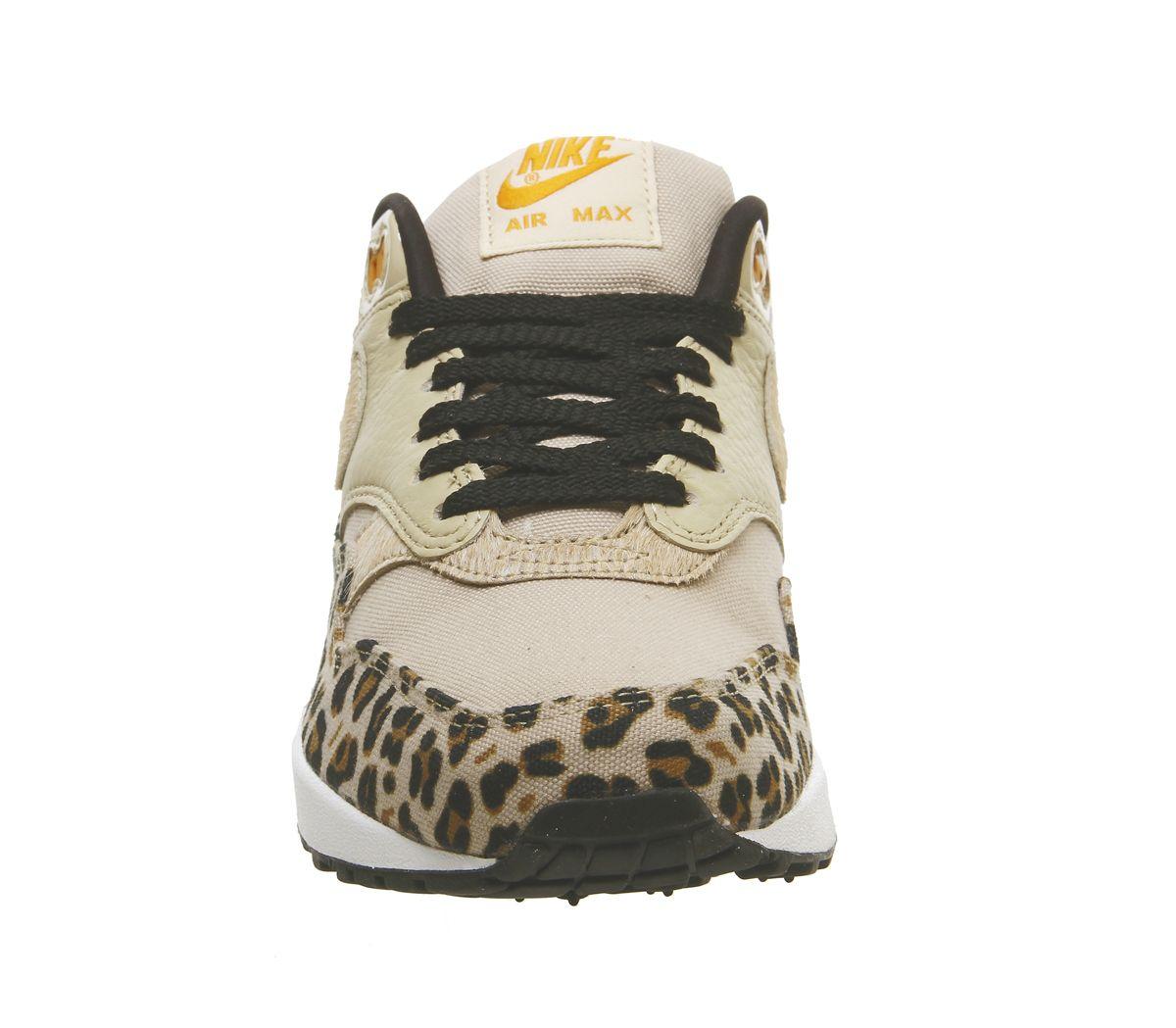 4e4f91caa Nike Air Max 1 Trainers Desert Ore Wheat Leopard - Unisex Sports