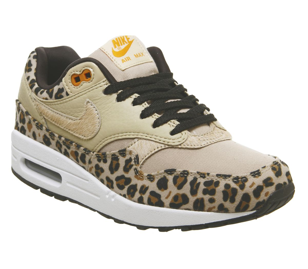 online store 6d328 820c1 Nike Air Max 1 Trainers Desert Ore Wheat Leopard - Unisex Sports