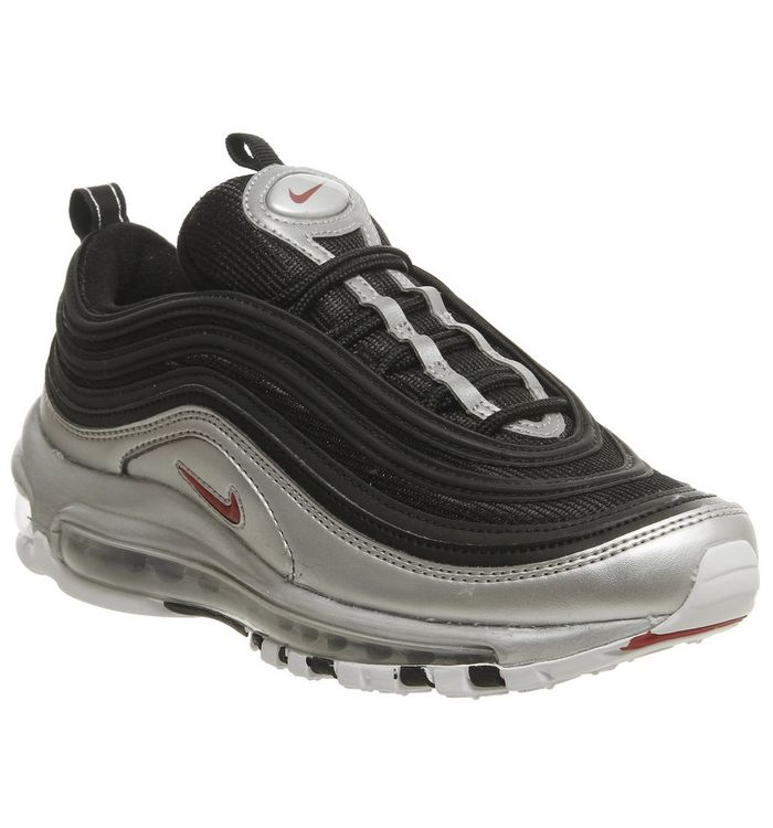 d65157163238e0 Nike Air Max 97 Trainers Black Red Silver - Hers trainers
