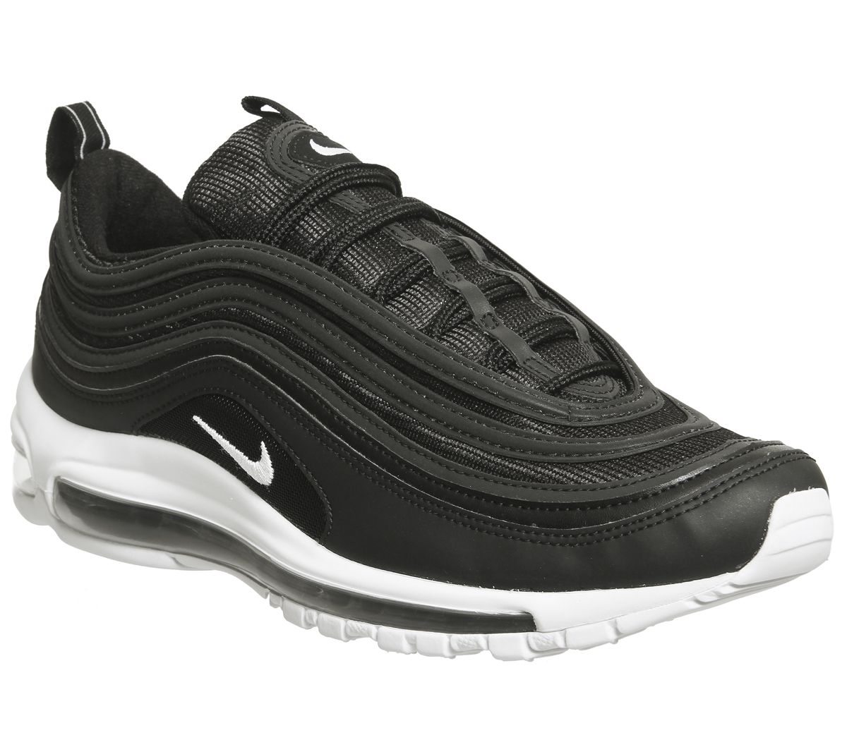online store 7b272 0fa0c Nike Air Max 97 Trainers Black Wolf Grey White - His trainers