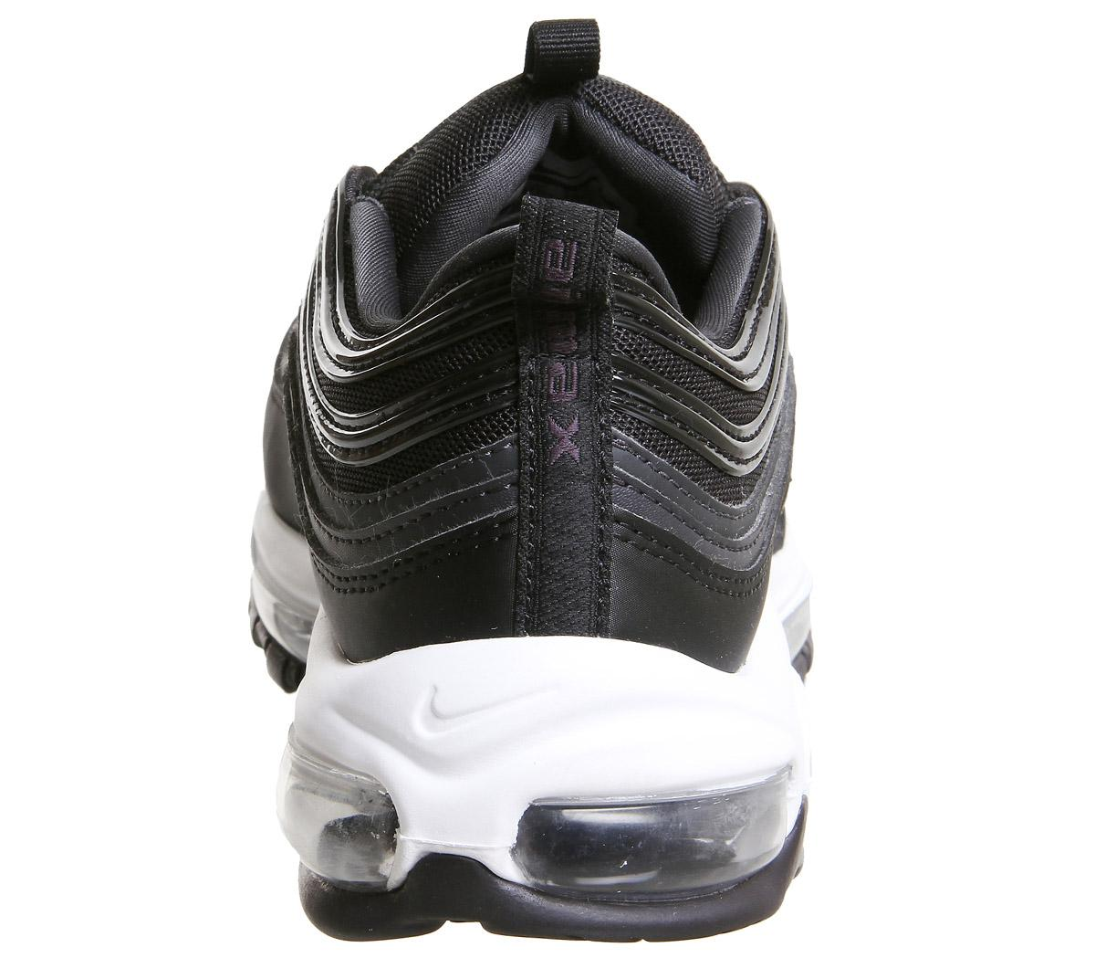 Nike Air Max 97 Trainers Black Oil Grey Anthracite White F