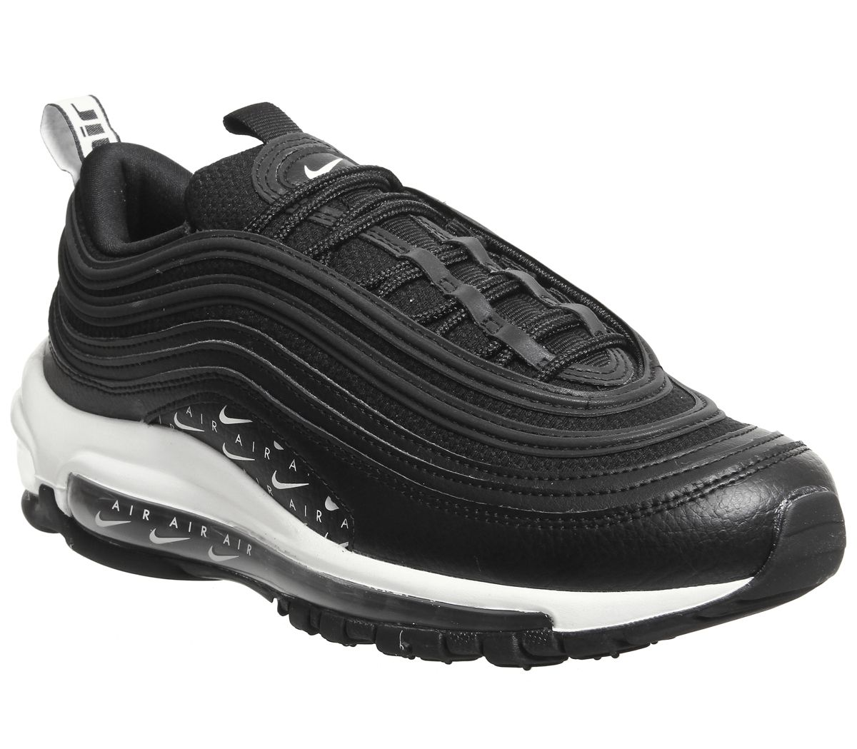 newest 5d952 21309 Nike Air Max 97 Trainers Black Black White Lx - Hers trainers