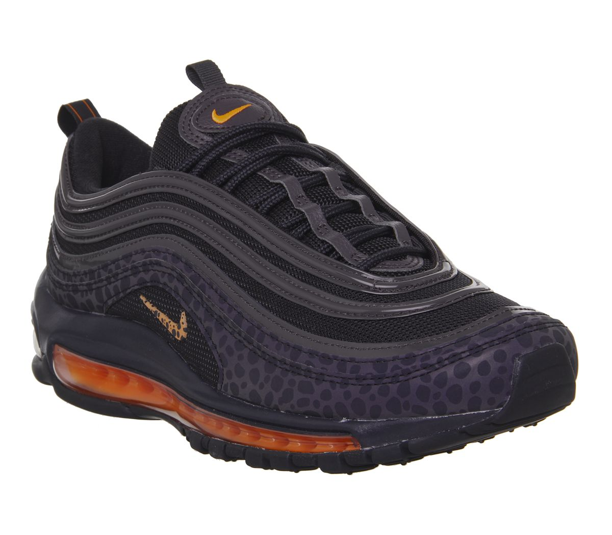 huge discount 16f7a 1f043 Nike Air Max 97 Trainers Black Orange Trance Thunder Grey Stargazer ...