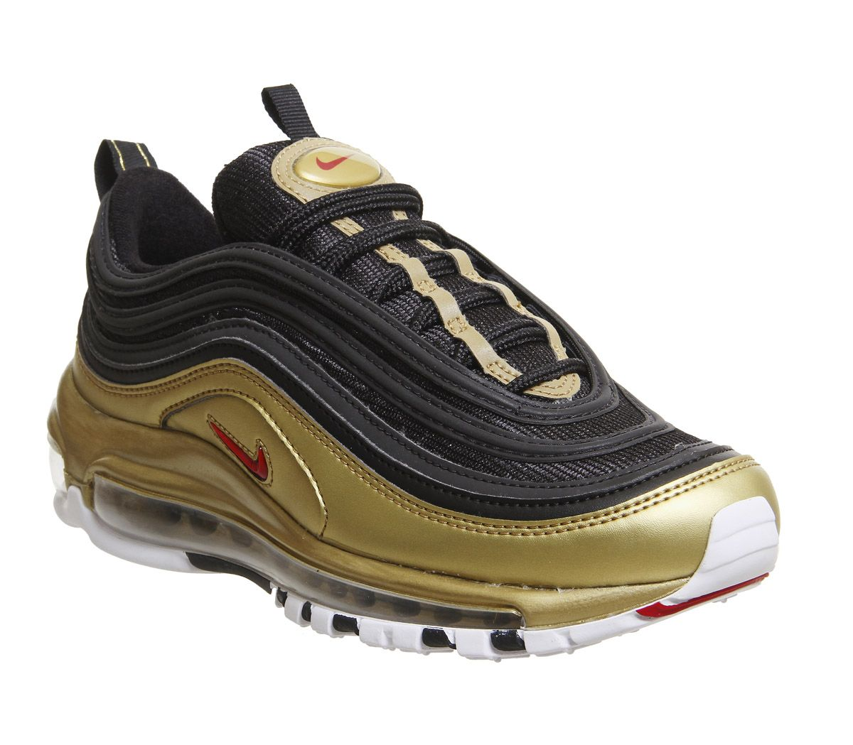 6b61948ef5 Nike Air Max 97 Trainers Black Red Gold - Hers trainers