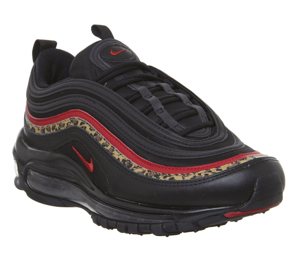 bf7fc324ab Nike Air Max 97 Trainers Black University Red Leopard - Hers trainers