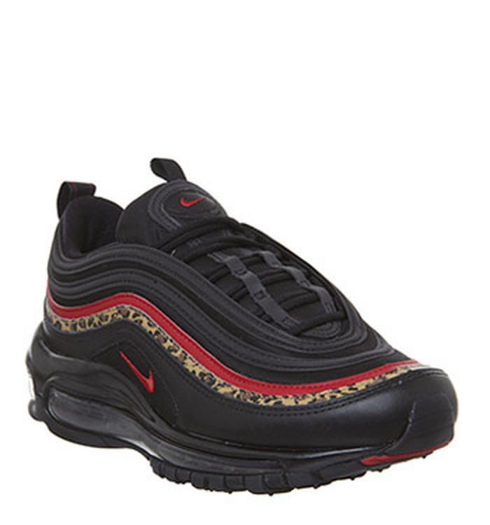 1f54ef73408e 30-01-2019. Nike Air Max 97 Trainers Black University Red Leopard